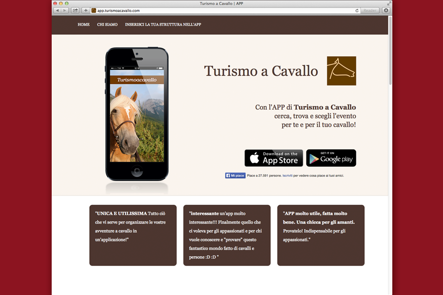Pagina di download dell'APP